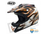MT MX-1 Cross Helm Mat Zwart / Oranje