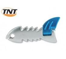 TNT Kickstarter Fish Zilver Piaggio Scooter