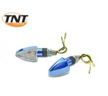 TNT Knipperlicht Punt Blauw Geanodiseerd