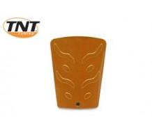 Oranje metallic accu deksel