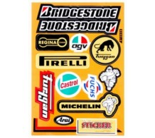 Stickerset Bridgestone Castrol Pirelli Regina