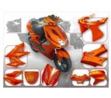 DMP Kappenset Amber Yamaha Aerox