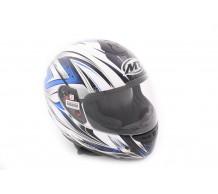 MT Helm Roadster Wit / Blauw
