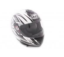 MT Helm Roadster Wit / Grijs