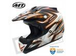 MT MX-1 Cross Helm Mat Zwart / Oranje
