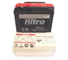 Nitro Accu YTR4A-BS 12volt HONDA SFX / X8R / BALI / SUZUKI STREETMAGIC
