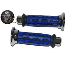 Pro Grip Handvatset Blauw/Chroom