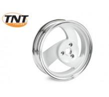 TNT achterwiel Wit/Chroom