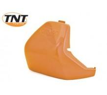 Oranje metallic Zadelneus