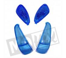 Knipperlichtglas set Blauw Gilera Runner