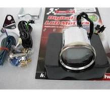 Koso Chroom Toerenteller met temperatuur meter