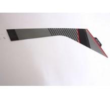 Sticker Kuip rechtsachter Midden Zwart RX