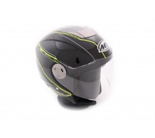MT Jet Helm City Eleven Dynamic Zwart / Fluor