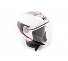MT Jet Helm City Eleven Dynamic Wit / rood