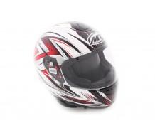 MT Helm Roadster Wit / Rood