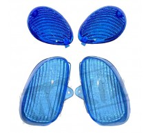 Knipperlichtglas set Blauw Yamaha Neo's