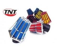 TNT Powerfilter Rood geanodiseerd met gele spons.